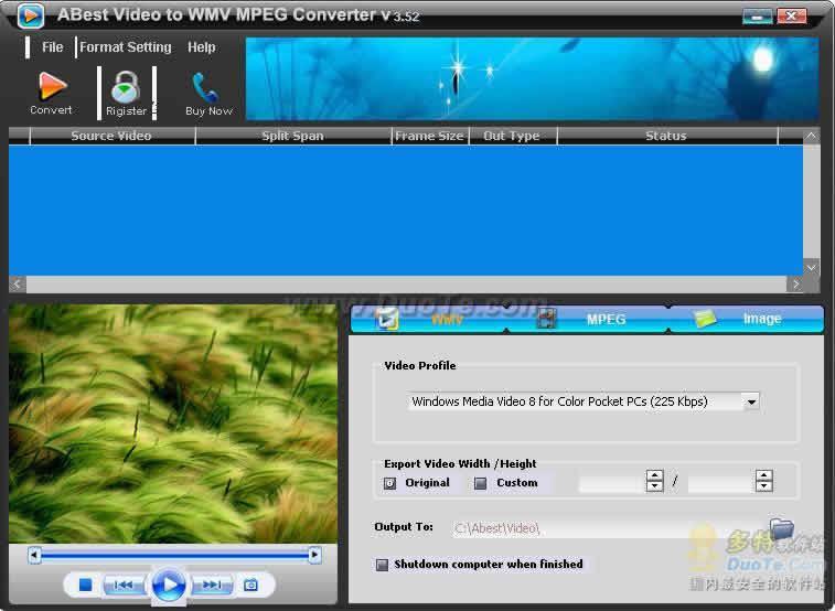 ABest Video to WMV MPEG Converter下载
