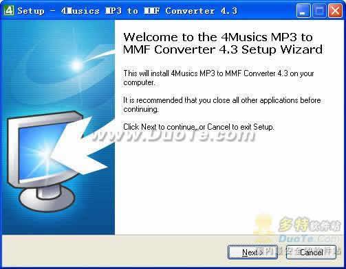 4Musics MP3 to MMF Converter下载