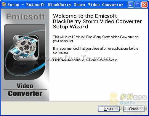Emicsoft BlackBerry Storm Video Converter下载