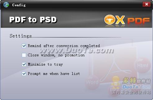 OX PDF to PSD Converter下载