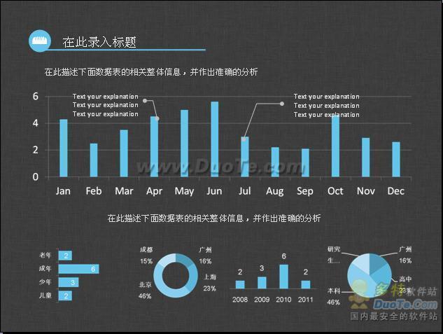 淘宝商城统计数据ppt模板下载