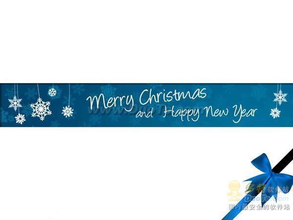 圣诞2010蓝色简洁PPT模板下载