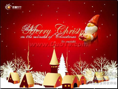 圣诞2010欢快音乐PPT模板下载