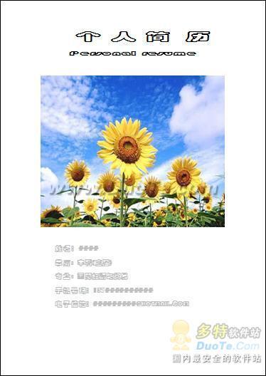 冬日快乐风格彩色简历Word模板下载