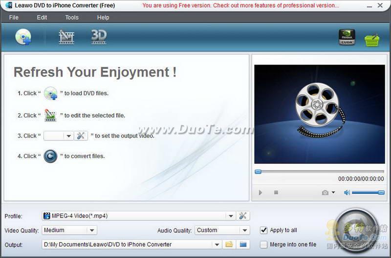 Leawo Free DVD to iPhone Converter下载
