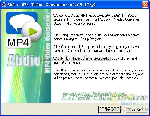 Abdio MP4 Video Converter下载