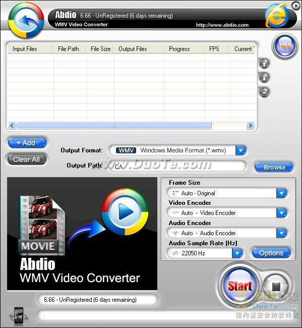 Abdio WMV Video Converter下载