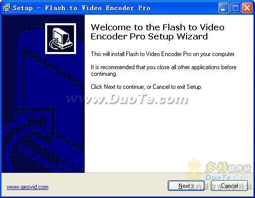 Flash To Video Encoder PRO下载