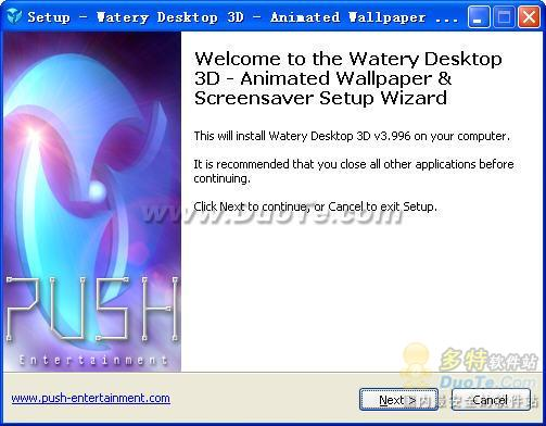 Watery Desktop 3D ScreenSaver下载