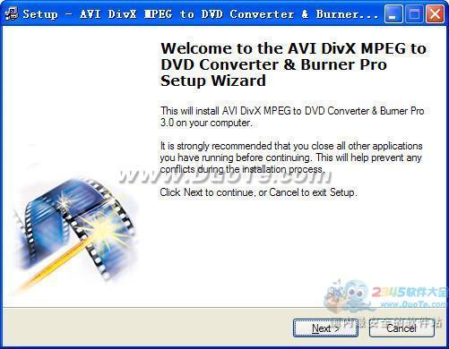 AVI DivX MPEG to DVD Converter & Burner Pro下载
