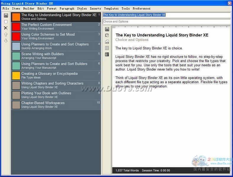 Liquid Story Binder XE下载