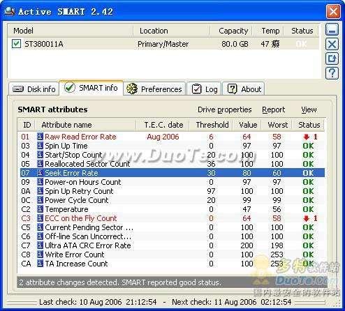 Active SMART:硬盘健康 轻松监控