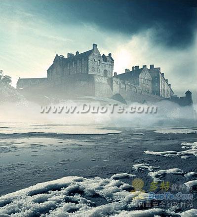 奇幻美景 美图秀秀合成迷雾中的海市蜃楼