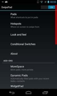 滑动快捷方式(SwipePad)软件截图1