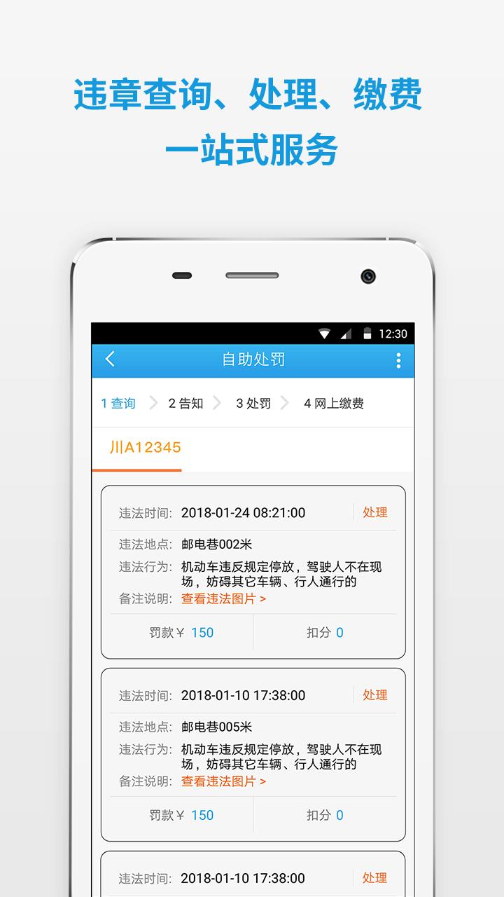 四川公安交警公共服务平台软件截图2