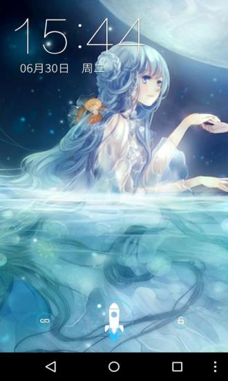 月亮日系少女梦象壁纸