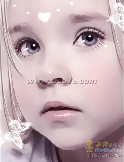 Photoshop把可爱的儿童照片转为手绘效果