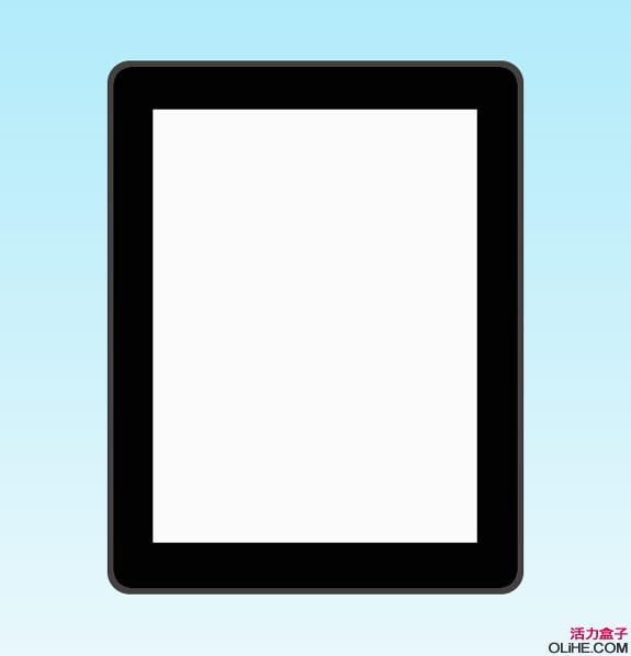 Photoshop鼠绘一台iPad平板电脑