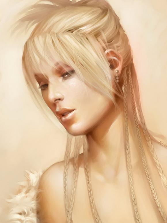 美丽的美女肖像插画设计欣赏