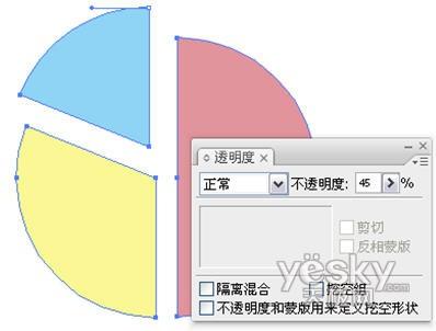 Illustrator绘制精美三维图表实例(2)