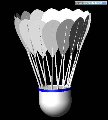 AutoCAD三维建模制作立体羽毛球