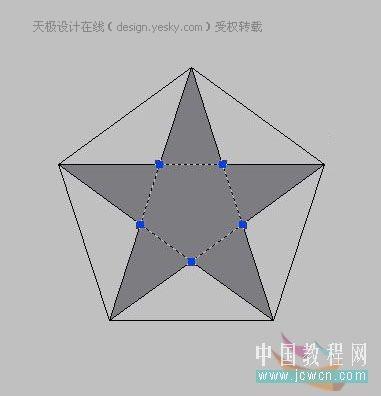 AutoCAD拉伸命令快速绘制立体五角星