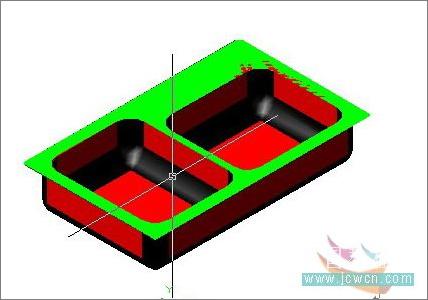 AutoCAD教程:厨房用的水槽建模方法