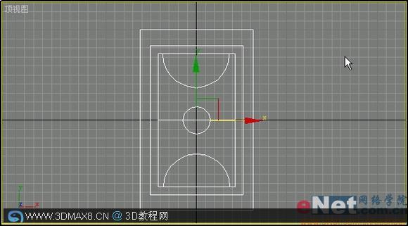3DMAX制作篮球场建模教程