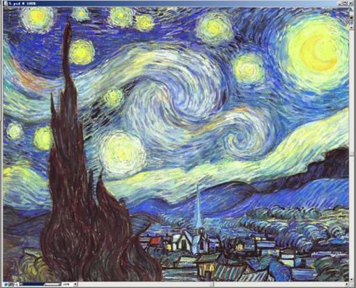 Painter临摹国际大师梵高的《星夜》