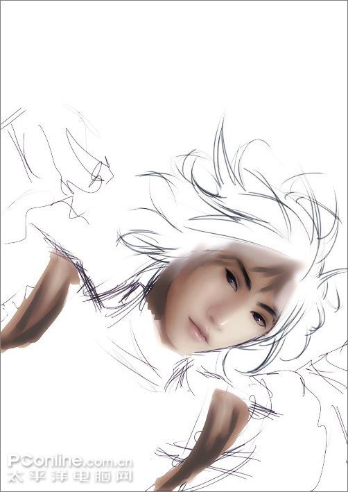 Painter教你绘制蓝色忧郁带刺的蔷薇