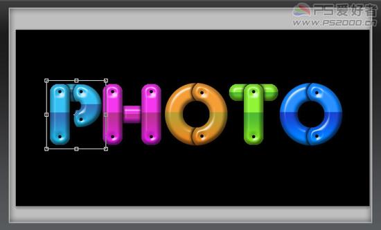Photoshop文字特效教程之制作立体卡通文字