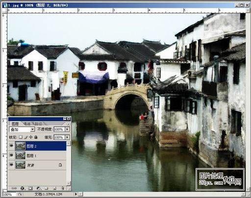 PS照片特效高级教程之制作水墨风格图片