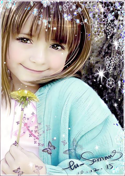 PS照片特效高级教程之小女孩转为质感手绘效果