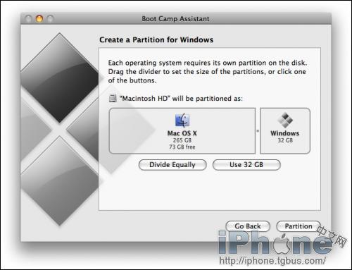 苹果mac系统下安装windows7系统详细教程
