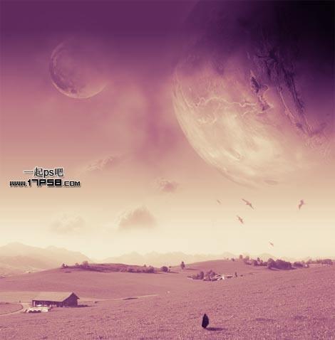 ps合成-快速打造梦幻唯美星球