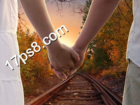ps设计实例-打造浪漫牵手情侣