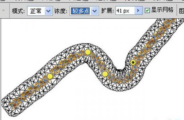 ps设计实例-利用变形工具把绳子扭曲成文字