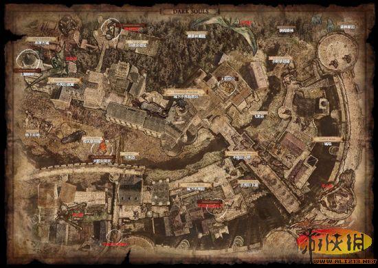 《黑暗之魂》主城大地图介绍
