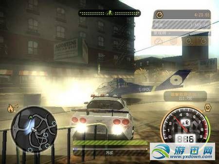 《极品飞车9》攻击直升机方法