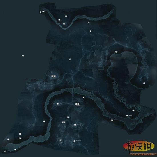 《刺客信条3》地区完整地图及详细狩猎地图介绍