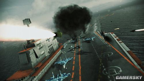 《皇牌空战7:突击地平线》流程攻略第十关:Hostile Fleet(敌方舰队)