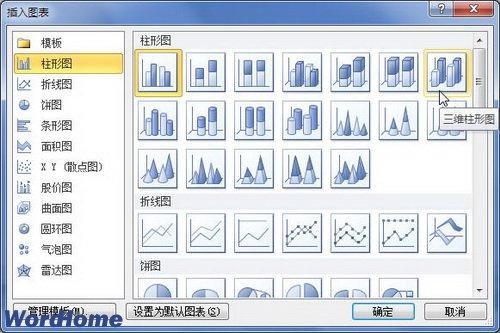 word2010中怎么插入图表