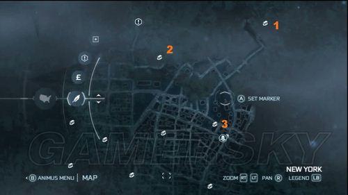 《刺客信条3》宝箱收集指南之纽约北部街区
