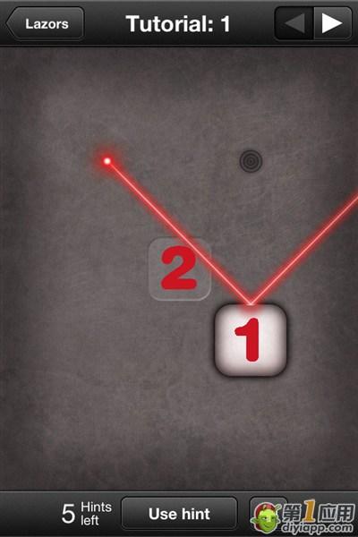 《光线迷宫》lazors Tutorial第1关通关攻略