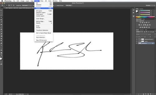 用Photoshop把自己的手写签名制成图片的水印效果