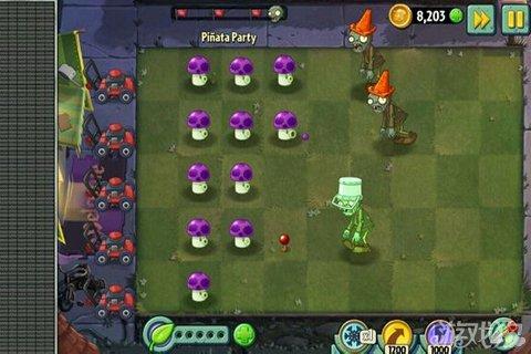 《植物大战僵尸2》小喷菇的爆发力彩陶威力