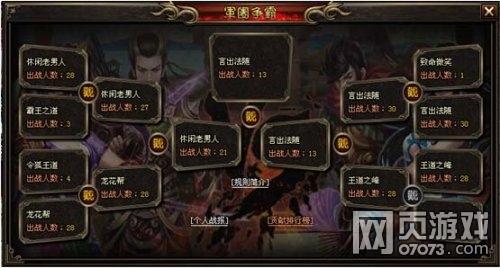 《武三国》军团争霸游戏策略介绍