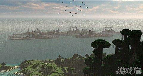 《我的世界》优秀作品展示 英国皇家海军舰队飒爽英姿