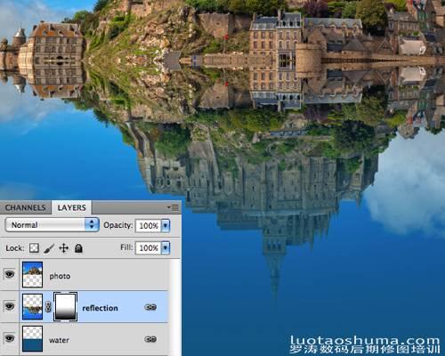 怎样制作水中倒影特效照片的PS技巧