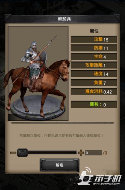 《列王的纷争》二级轻骑兵怎么样